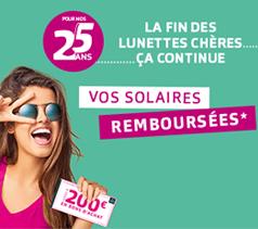 460833dbe8 1 paire de lunettes de vue achetée 1 paire de lunettes de soleil offerte  Vos solaires remboursées en magasin !
