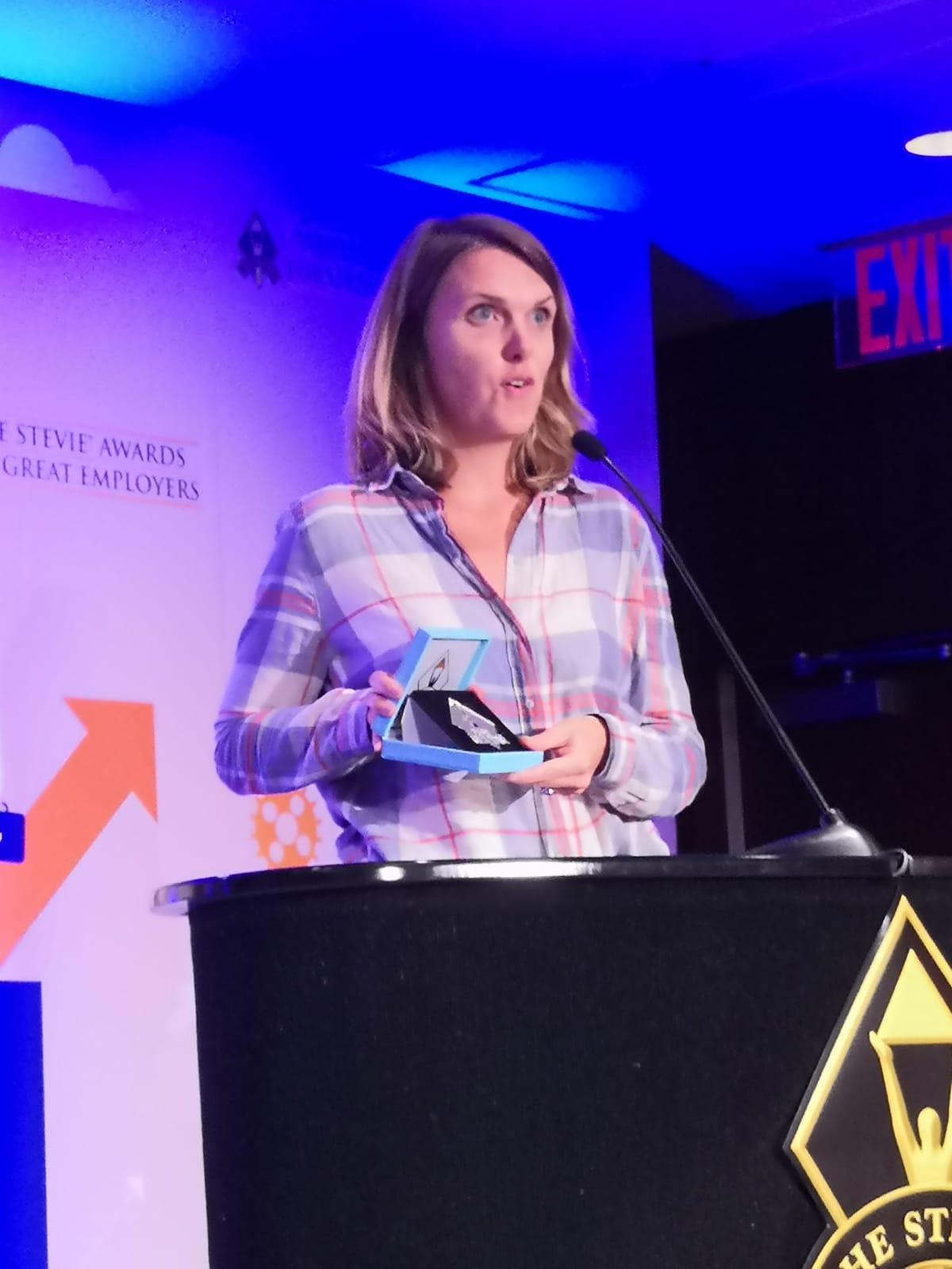 Alix de Sagazan en los Stevie Awards for Great Employers 2018